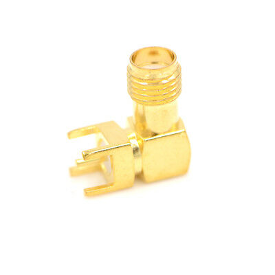 Hot RP-SMA Female plug center right angle solder PCB mount Coaxial connectorGT