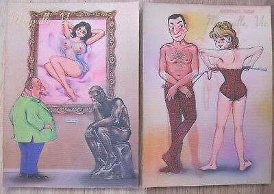 Vintage Marysville Souvenir 3D Comic Pinup Post Cards Made In Japan