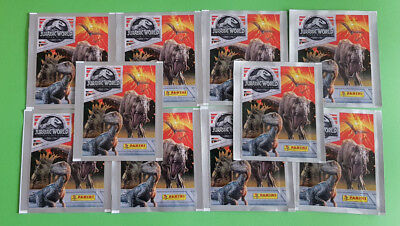 Panini Jurassic World Fallen Kingdom Sticker 10 Tüten 50 Bilder Neu