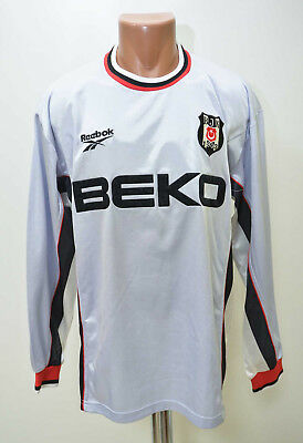 Besiktas Turkey 2000/2001 Third Football Shirt Jersey Trikot Reebok Long Sleeve