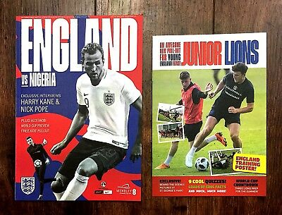 England v Nigeria Programme With Free Pullout 2nd June 2018