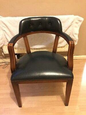green leather captains chair 40 00 picclick uk