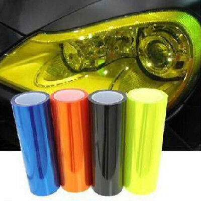 "Hot New 12x24"" Black Light Fog Headlight Tint Film Windshield Self-adhesive"