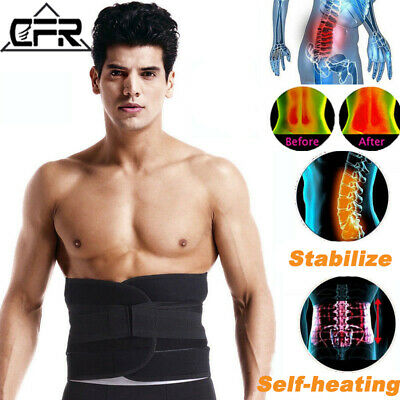 Magnetic Waist Support Back Belt Brace Double Pull Lumbar Lower Self-heating T