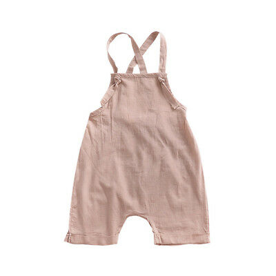 Overall Harem Playsuit Baby Summer Jumpsuit Kids Trousers Romper Outfit Toddler