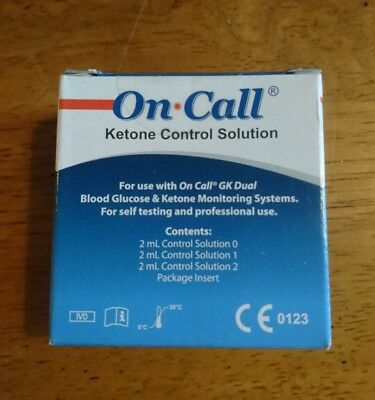 On Call Ketone Control Solution pack for the On Call GK meter ketone test strips