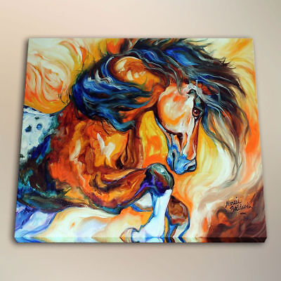 100% Hand-Painted Oil Painting Canvas art wall decor animals Horse-10 24x24