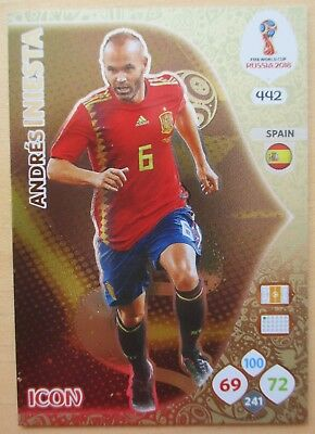 FIFA WORLD CUP RUSSIA 2018 ICON ANDRES INIESTA 442