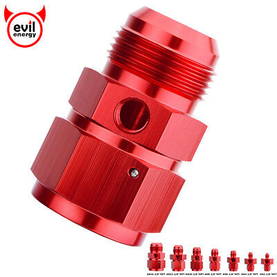 "Various AN Male to Female Twin With 1/8"" NPT Gauge/ Sensor Side Port Adapter"