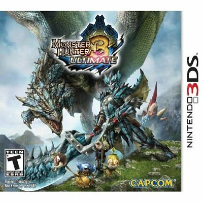 Monster Hunter 3 Ultimate Nintendo For 3DS With Manual and Case Very Good 4E