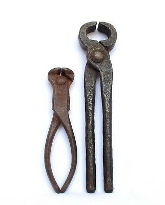 1880's Iron Hand Tool, Pliers / Iron Wire Cutters, 2 Antiques from the 19th C.