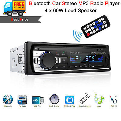 Bluetooth Car Stereo Audio In-Dash Aux Input FM Receiver SD USB MP3 Radio Player