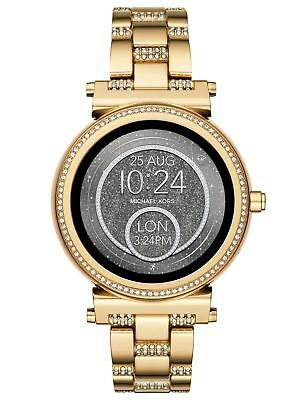 30465d0cb876 Sealed Michael Kors Access Gold Unisex Sofie Stainless Steel Smart Watch  MKT5023