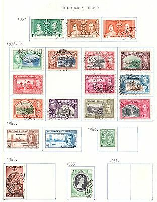 TRINIDAD & TOBAGO 1937-67 collection on four album pages