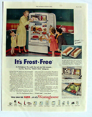 Westinghouse Frost Free refrigerator ad Frost Free 1950