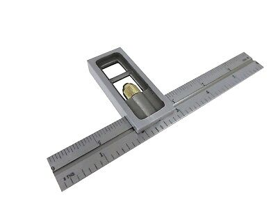"""Taytools 469539 6"""" Double Machinist Square 4R markings 1/8, 1/16, 1/32. 1/64"""