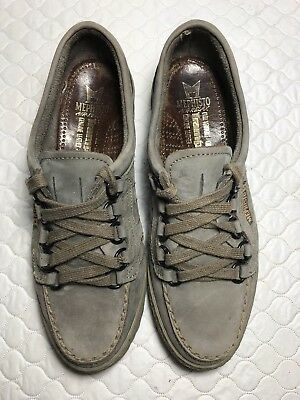 4c1d82c6df Mephisto Air Relax Women's Trampoline Gray Leather Lace Up Loafer Shoes  Size-7.5