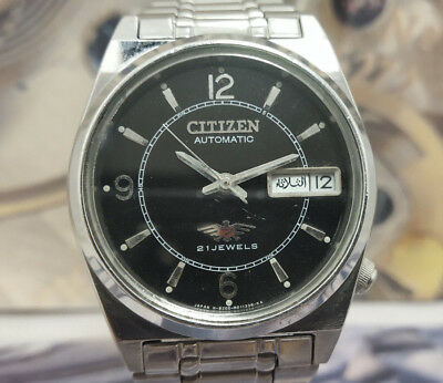 Authentic Genuine Men's-Citizen Automatic Day And Date  21 J Wrist Watch.