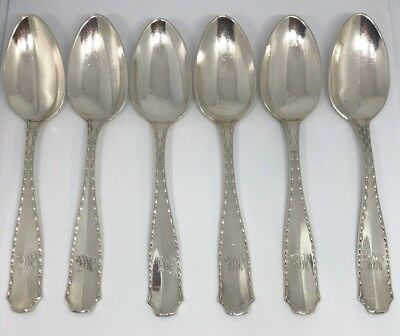 Tiffany & Co.1902 MARQUIS Set of 6 TeaSpoons 5 3/4 in Sterling Silver Great