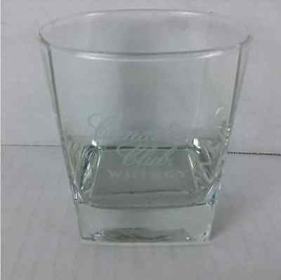 New Canadian Club Whisky Lowball Rocks Etched Glass Cup Barware Cocktail