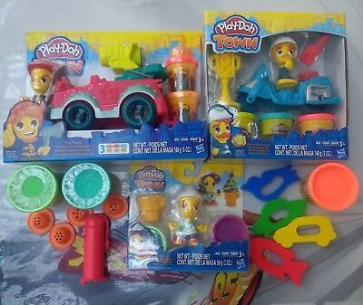 Play-Doh Town FIRETRUCK, POLICE, ICE CREAM Sets & MORE Lot ***NEW***
