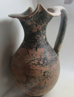 Circa 4Th Century Bc South Italian Blackware With Handle Minor Repairs,ex Bonham
