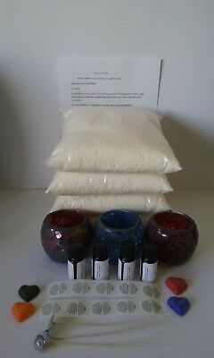 4 kg Mosiac Candle Making  Soy Wax Kit, Labels,Fragrances,Wicks,Dye Chips