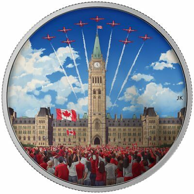 2017 $30 Fine Silver Coin Celebrating Canada Day - Glow-In-The-Dark
