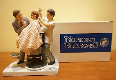 Norman Rockwell's The First Haircut American Family Figurine - 1979 limited box