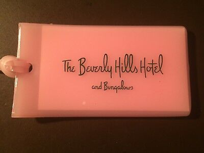 Beverly Hills Hotel - Beverly Hills, Ca. official pink luggage tag