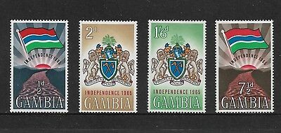 GAMBIA 1965 Independence, mint set of 4, MH & MUH