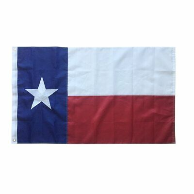 Texas Flag 3x5 Foot 100% Made In USA Nylon -Embroidered Grommets Military Grade