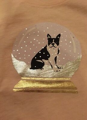J Crew Boston Terrier Collectors Tee T Shirt XL - Extra Large