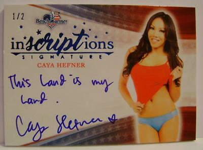 Caya Hefner Inscriptions Auto #1 1/2 America The Beautiful Bench Warmer