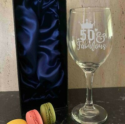 Personalised Engraved 310ml Wine Glass Birthday Gift 18th 21st 30th 40th 50th