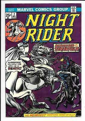High Grade Marvel NIGHT RIDER No. 2, 1974, Dick Ayers Plot and Art, VF to NM-