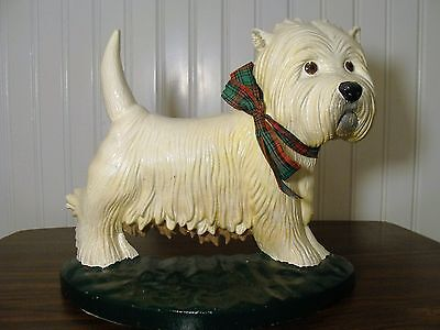 Beautiful CAST IRON/Metal WEST HIGHLAND WHITE TERRIER Figurine By UPPER DECK