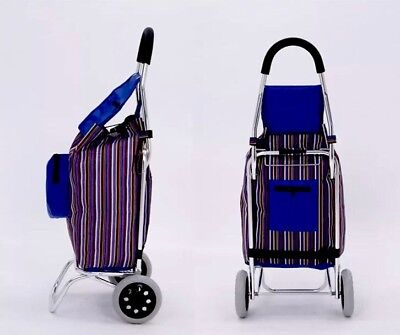 Elder Aluminum Shopping Trolley Large Bag Foldable Shopping Cart Light Weighs AU