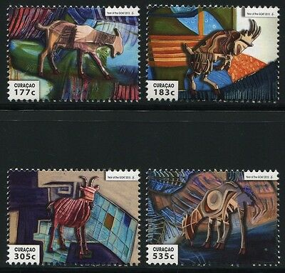 CURACAO 2015 Jahr der Ziege Year of the Goat Ram Zodiac ** MNH