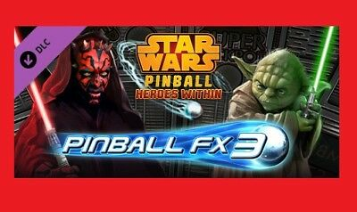 PINBALL FX3 - Star Wars Pinball: Heroes Within DLC PC STEAM CD Key REGION  FREE