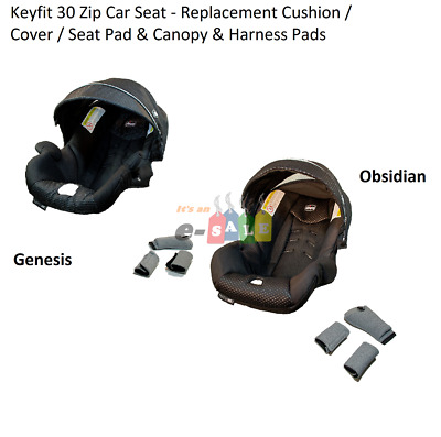 replacement chicco keyfit 30 zip infant car seat cover canopy pads