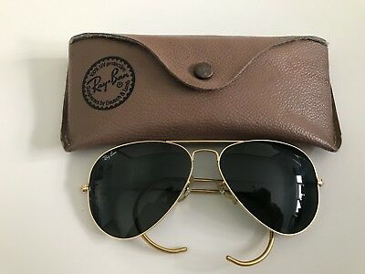 VINTAGE RAY BAN Aviator Bausch  Lomb USA Mint Condition 58   14 G15 ... 7a5245c68c6b