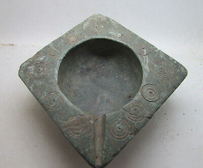 Circa 700-1050Ad Middle Eastern Byzantine Era Stone Oil Lamp, Rare