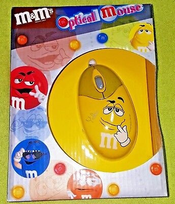 Yellow M&M Optical Mouse - Scroll, USB