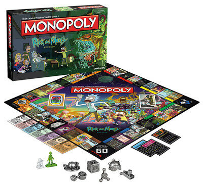 Rick & Morty Edition Monopoly Board Game. New In Box! Wubalubadubdub! Adult Swim