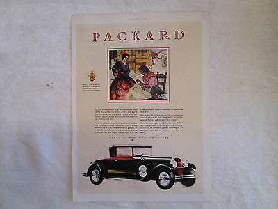1929 Packard Two Door Coupe Original Print Ad from August 1929