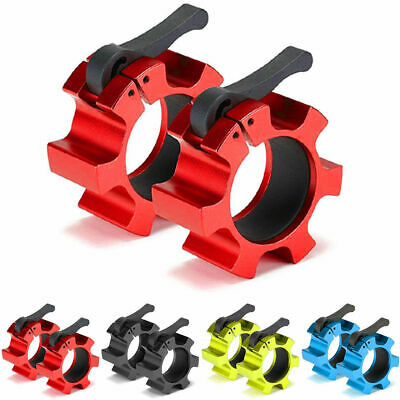 2″ Olympic Spinlock Collars Clamp Dumbbell Bar Lifting Lock Jaw Collar Set Metal