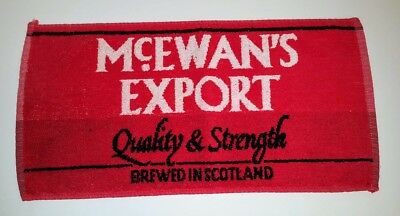 McEwan's Export Bar Towel Brewed in Scotland Quality & Strength 100% Cotton Red