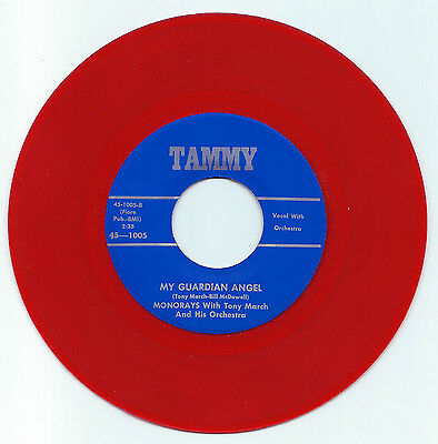 Doo Wop 45 The Monorays My Guardian Angel On Tammy  Red Wax Vg+ Repro