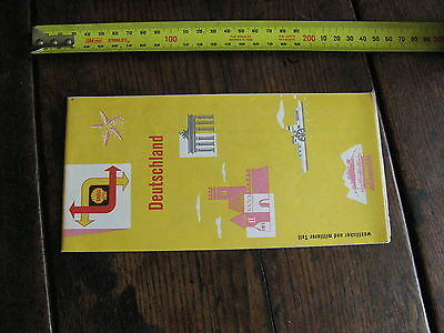Shell Deitschland , Germany Touring Map c1960